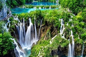 Superb Plitvice Lakes Waterfall